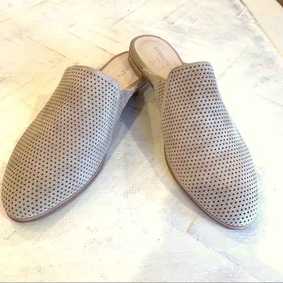 Kenneth Cole Rubie Tan Leather Slides Mules